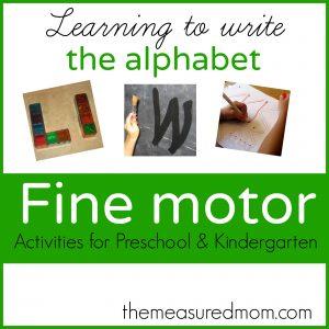 fine motor activities for preschool and kindergarten