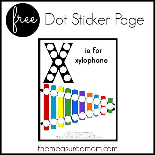 image relating to Letter X Printable known as Letter X Printable: X is for Xylophone - The Calculated Mother