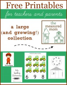 free printables from the measured mom