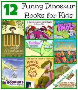 Funny books for a dinosaur preschool theme