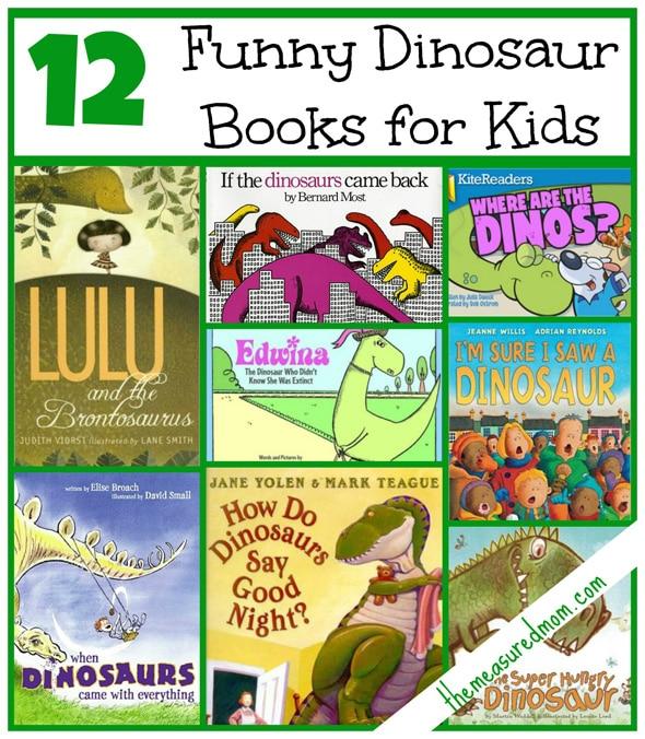 funny books for a dinosaur preschool theme the measured mom