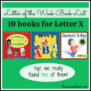 Letter of the Week Book List: Letter X