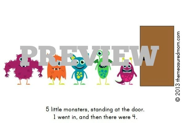 monster book printable (preview)