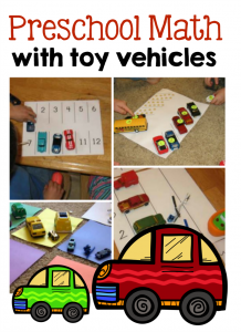 8 Preschool Math Ideas — using toy vehicles!