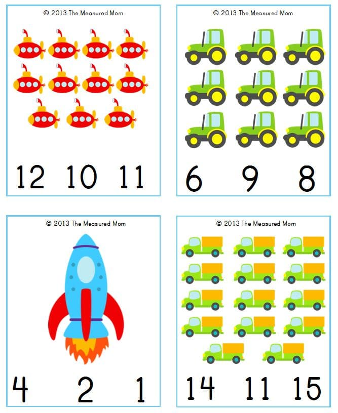 These free transportation printables are so cute! Count and clip cards from 1-20!