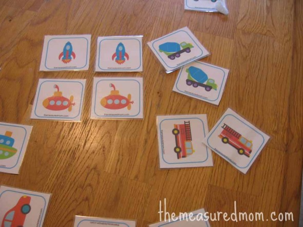 matching transportation memory game