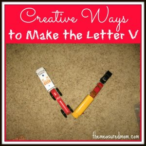 Creative Ways to Write the Alphabet: Letter V