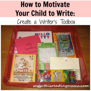 How to motivate your child to write: Guest post at This Reading Mama