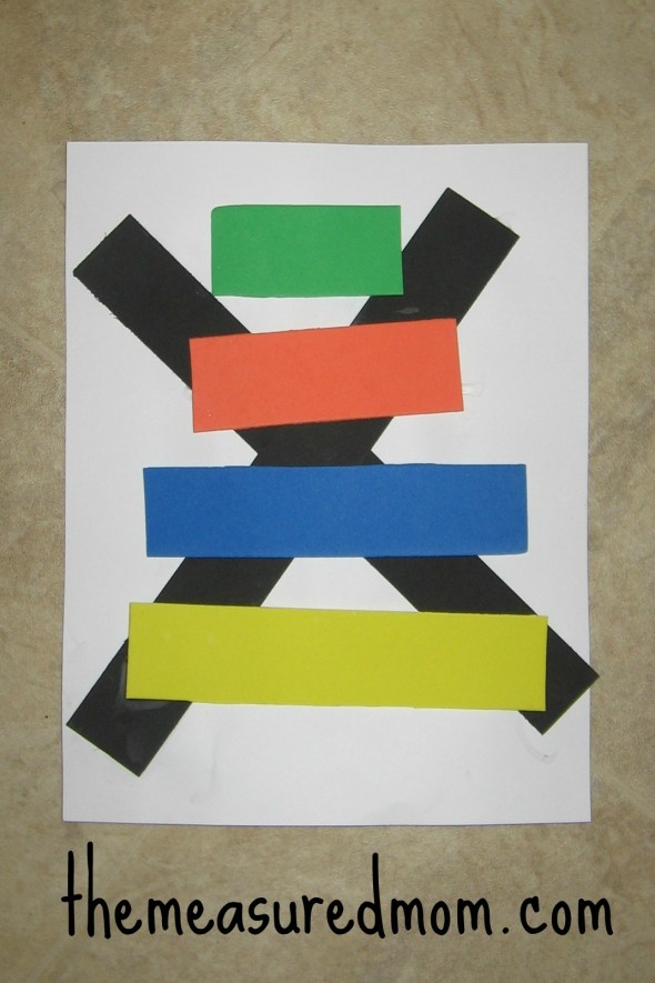 Xylophone foam craft letter X