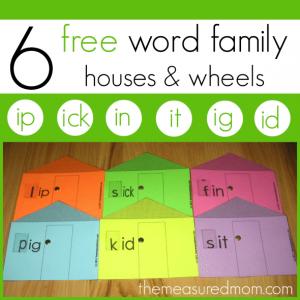 Short i word family activity