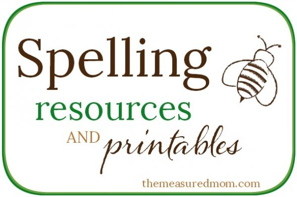 spelling resources and printables