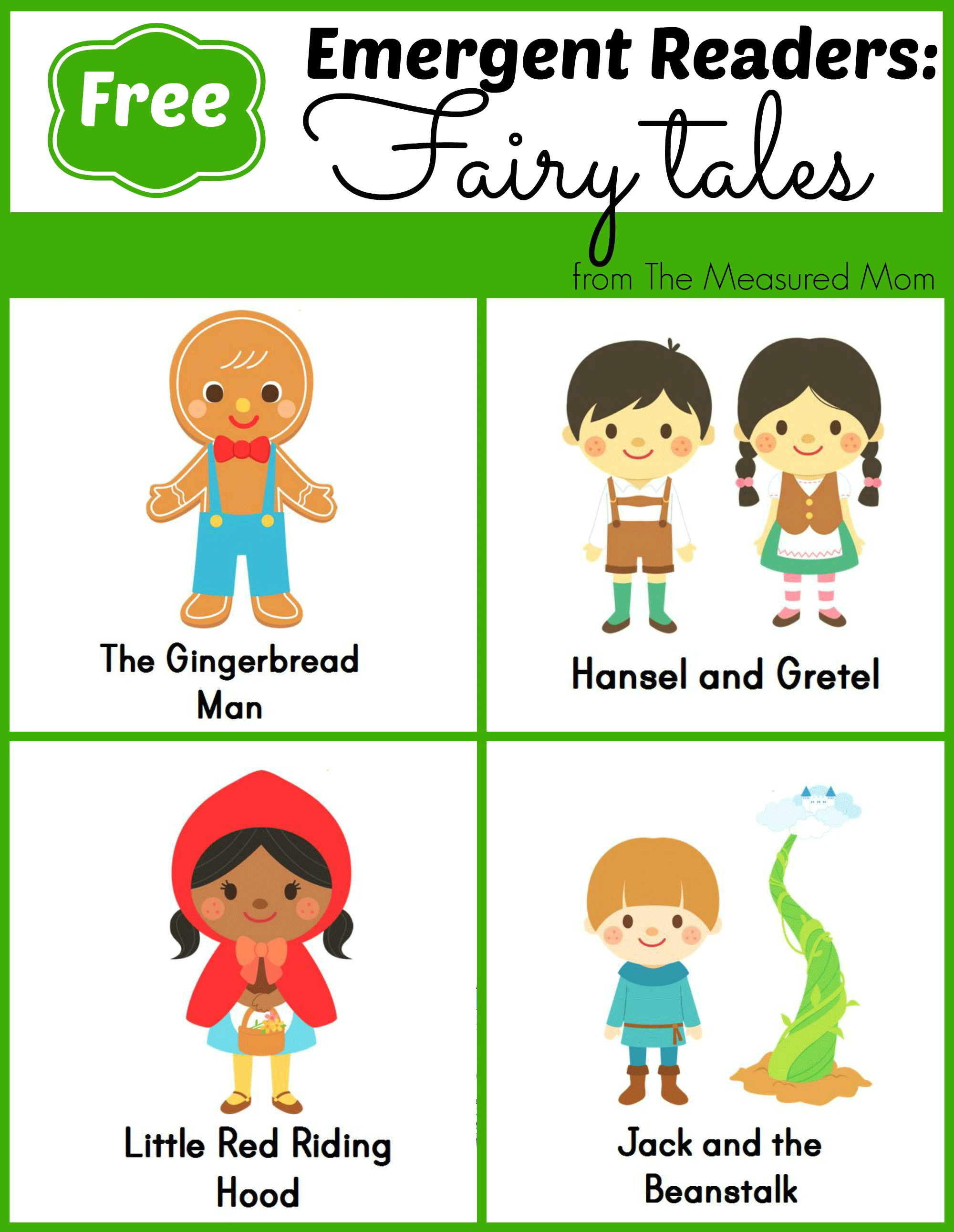 photograph regarding Printable Fairy Tales named Fairy Story Emergent Visitors - The Calculated Mother