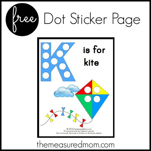 graphic about Letter K Printable named Letter K Printable: K is for Kite - The Calculated Mother