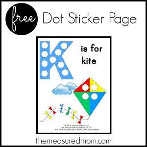 Letter K Printable: K is for Kite
