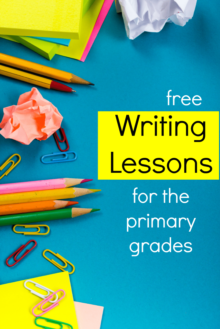 Simple writing lessons for the primary grades - The Measured Mom