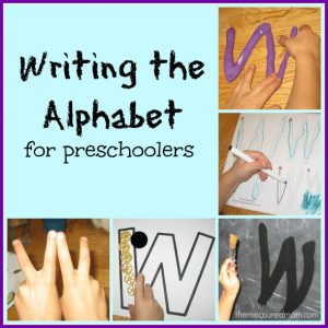 Writing the Alphabet for Preschoolers: the letter W