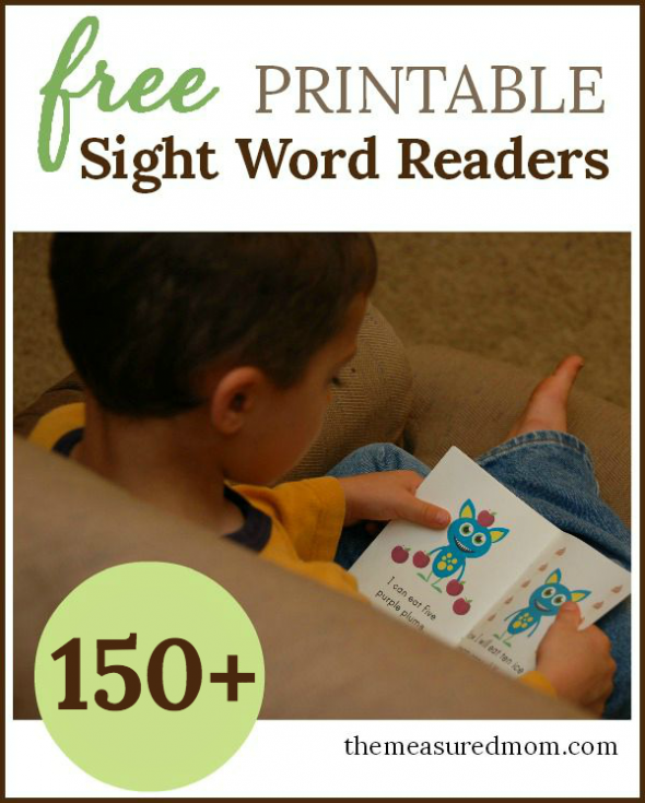 picture about Sight Word Printable Books called Cost-free Emergent People - The Calculated Mother