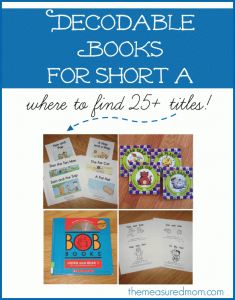 Decodable books for short a – where to find them!