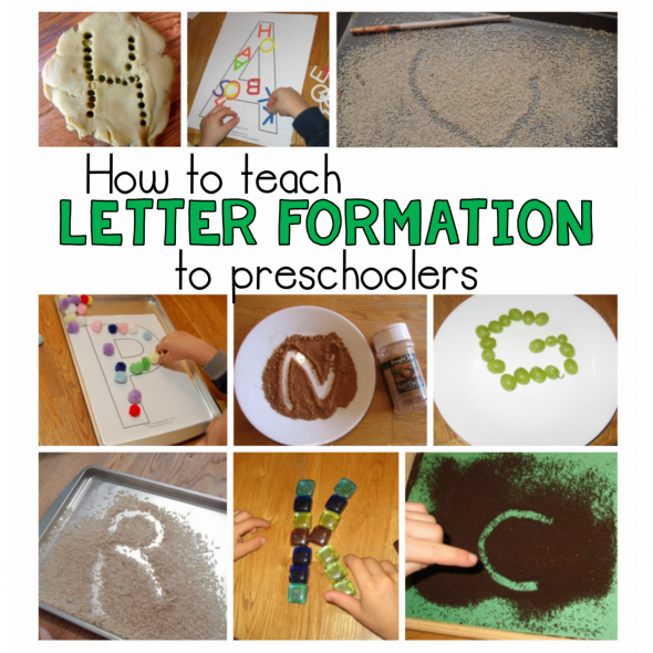 Such a great variety of ways to teach letter formation! We love to do some of these when we do letter of the week in preschool.
