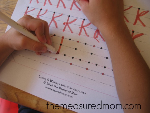 Check out this post for creative ways to teach kids to write the alphabet!