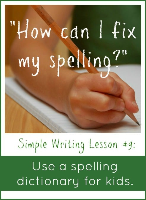 Do your young writers have trouble fixing spelling because they can't look up the words in a dictionary? Get a spelling dictionary for kids.