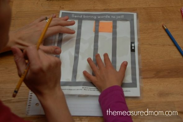 Looking to help young writers build vocabulary? Try this creative lesson: put boring words in jail!