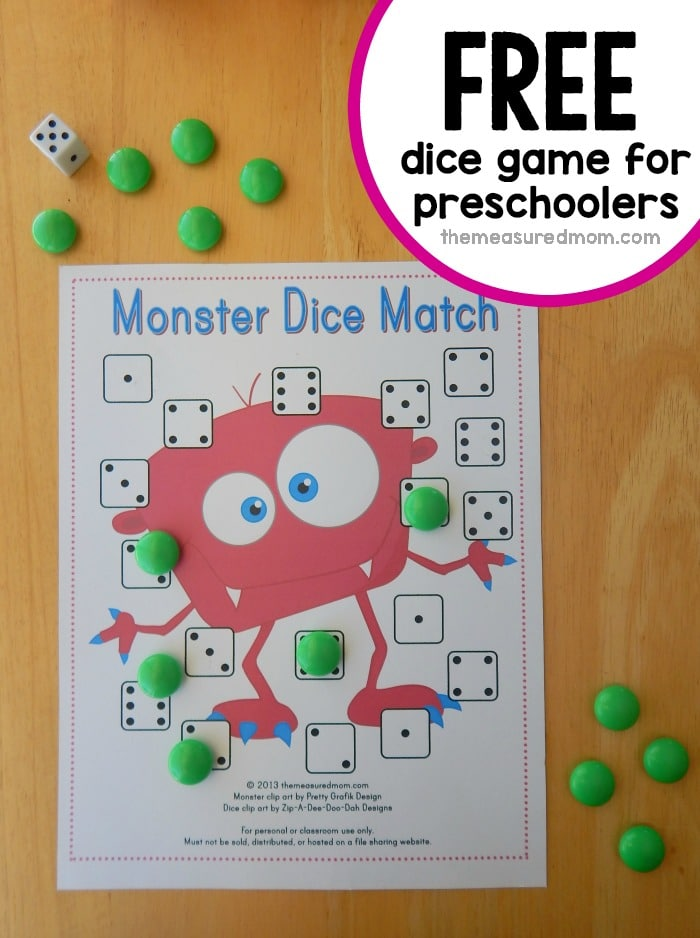 online math games for preschoolers free preschool math dice match the 378