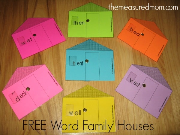 We've got our next set of Word Family Houses - get 7 free houses for short e!