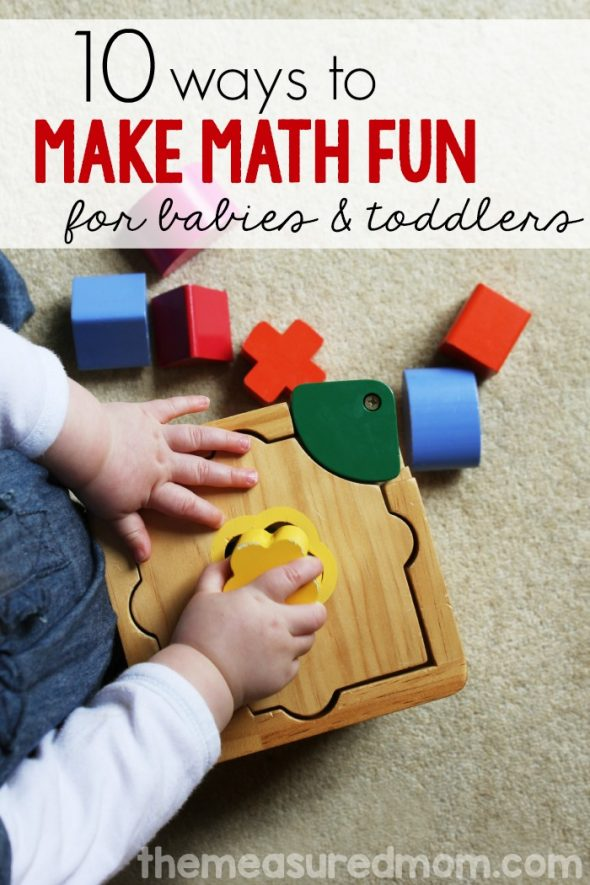 Baby & Toddler Math Activities - The Measured Mom