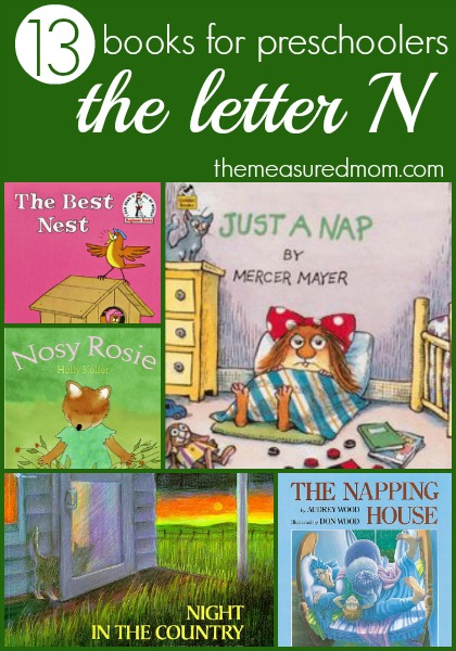 Letter N Book List - the measured mom