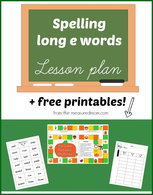 Spelling long e? Here's a free lesson with printables!
