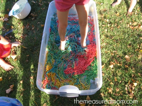 N is for noodles sensory play (8) - the measured mom