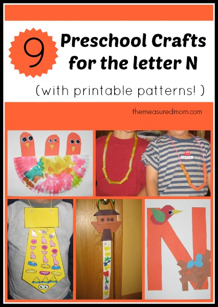 letter n preschool craft letter n crafts for preschoolers the measured 507