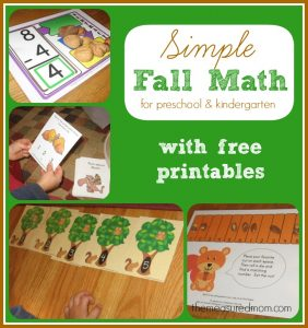 Fall Math Activities (for preschool & kindergarten)