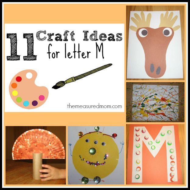 letter m crafts letter m crafts for preschoolers the measured 22905