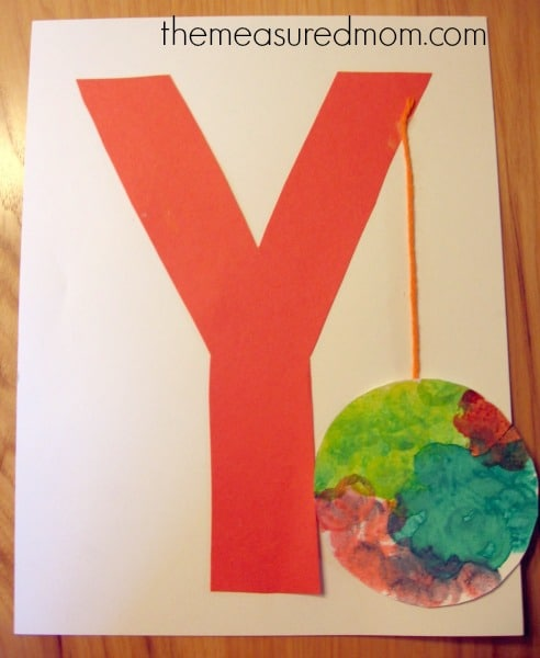 letter y crafts 7 letter y crafts and process for preschoolers the 23304 | letter y craft 2 the measured mom