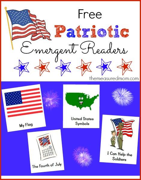 patriotic emergent readers - the measured mom