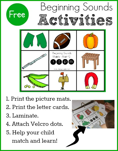 FREE Beginning Sounds Activity for Preschool & Kindergarten! - The ...