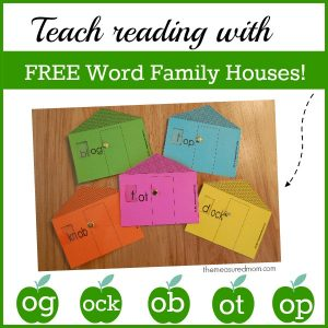 Free Word Family Houses for Short o
