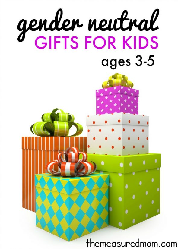 Find gender neutral gifts for boys and girls ages 3-5... over 30 ideas!