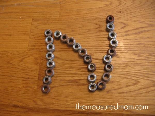 make letter N - the measured mom