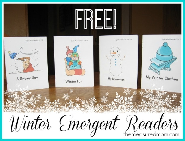 winter emergent readers (5) - the measured mom