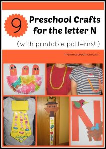 Letter N Crafts for Preschoolers