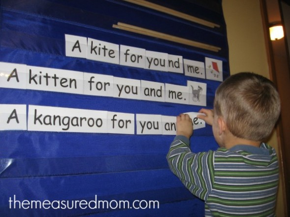 Get this set of of four free All About Me emergent readers at The Measured Mom!