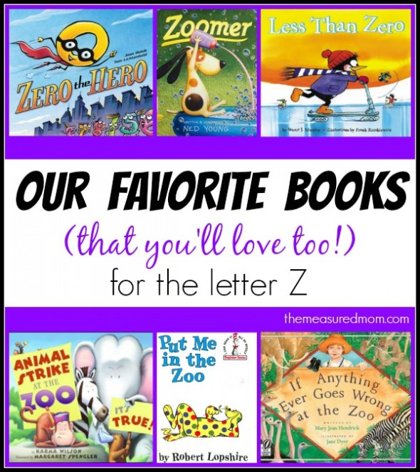letter Z book list - the measured mom