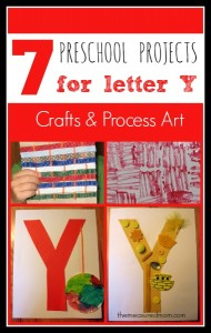 7 Letter Y Crafts and Process Art for Preschoolers