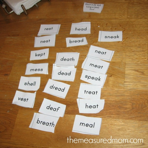 Check out this free lesson with printables for spelling ea words.