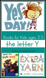 Letter Y Books: A Letter of the Week Book List