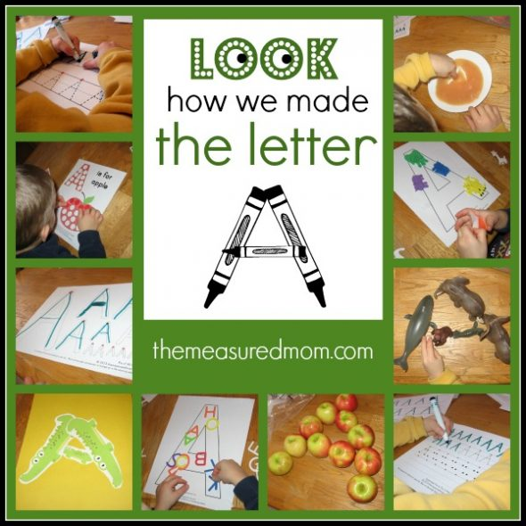 Ways to make the letter A - the measured mom