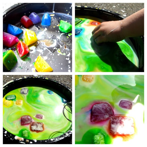 colored ice oobleck